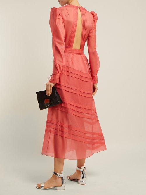 Pintuck Long Sleeved Midi Dress by Anna October