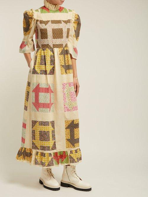 Patchwork Print One Of A Kind Cotton Dress by Batsheva