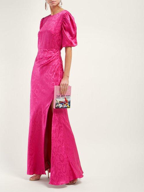 Annie B Snake Jacquard Silk Gown by Saloni
