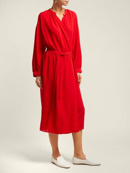 Nolan Silk Georgette Midi Dress by Joseph