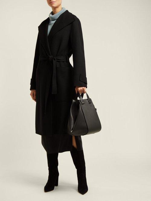 Lista Tie Waist Wool Blend Coat by Joseph