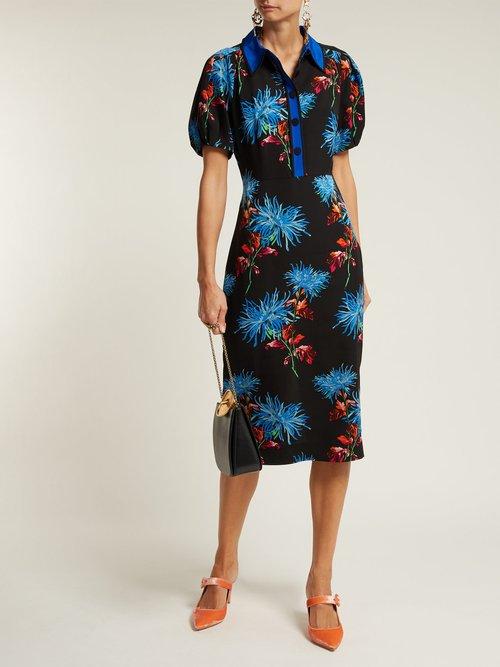 Hewes Crepe Midi Dress by Diane Von Furstenberg
