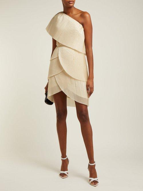 Blythe Asymmetric Pleated Mini Dress by Aje