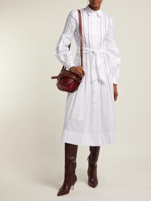 Chelsea Tie Waist Cotton Dress by Gabriela Hearst