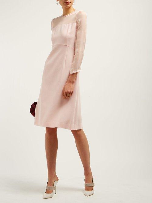 Flavia Wool Crepe Midi Dress by Goat