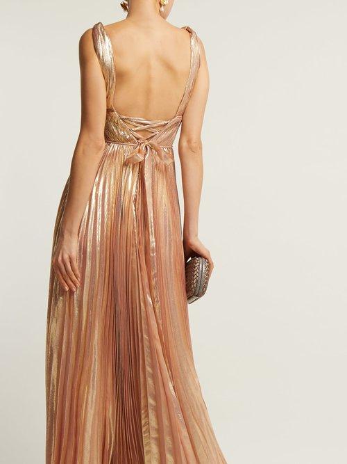 Riley Metallic Silk Blend Gown by Maria Lucia Hohan