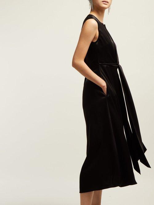 V Neck Tie Front Dress by Osman