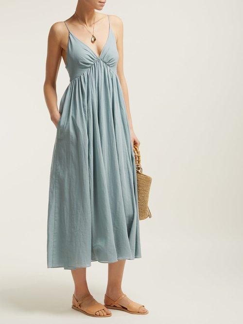 Adelaide Cotton Midi Dress by Loup Charmant