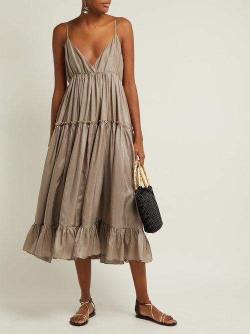 Carino Silk Midi Dress by Loup Charmant
