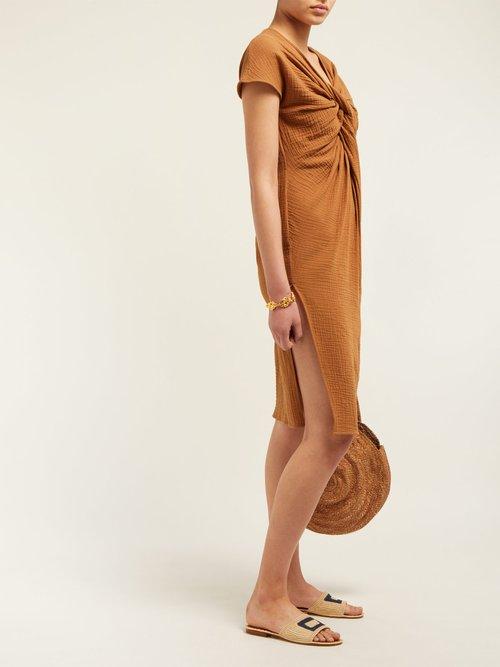 Gilgo Cotton Gauze Mini Dress by Loup Charmant
