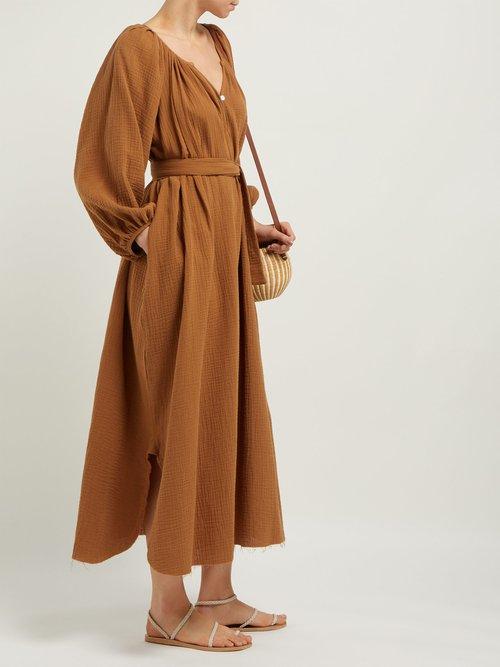 Organic Cotton Gauze Midi Dress by Loup Charmant