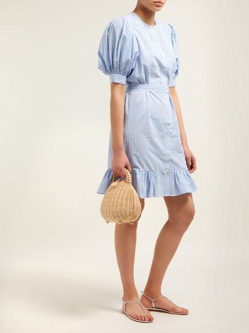 Tropique Gingham Check Cotton Dress by Mes Demoiselles