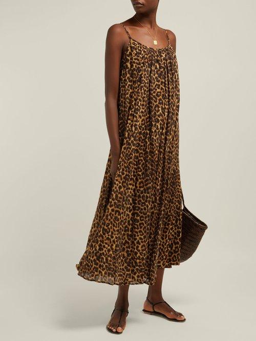 Fetiche Leopard Print Cotton Maxi Dress by Mes Demoiselles