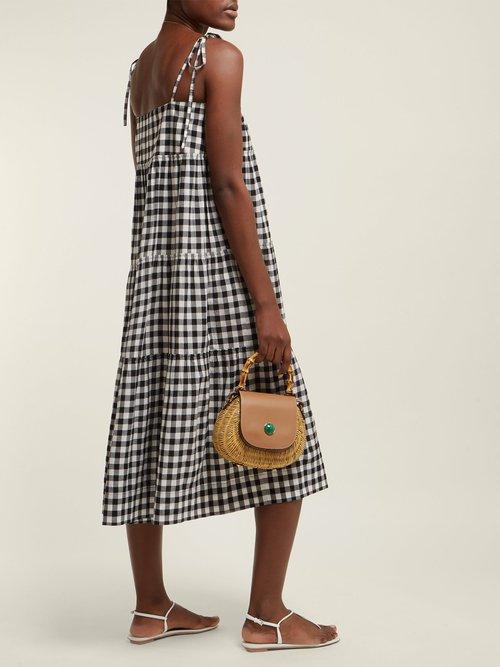 Sally Gingham Midi Dress by Belize