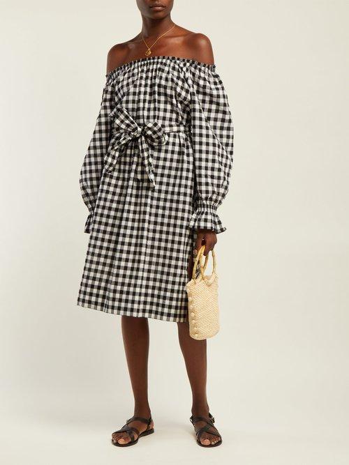 Photo of Maryam Gingham Cotton Dress by Belize - shop Belize dresses online sales