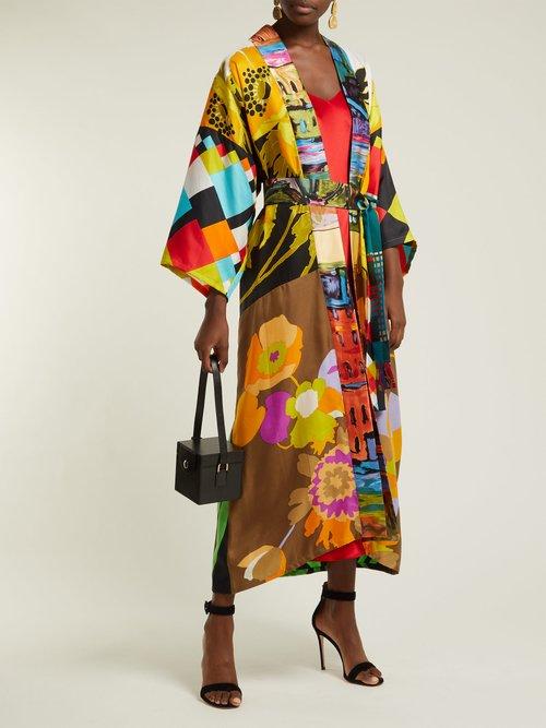 Vintage Patchwork Silk Kimono Coat by Rianna + Nina