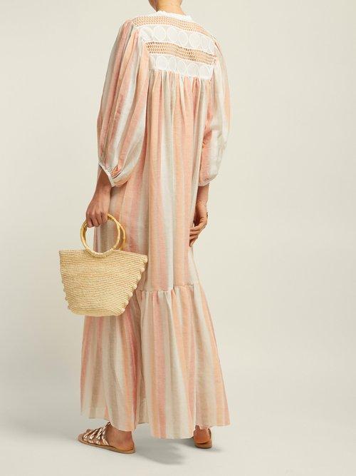 Light My Fire Striped Cotton Maxi Dress by Love Binetti
