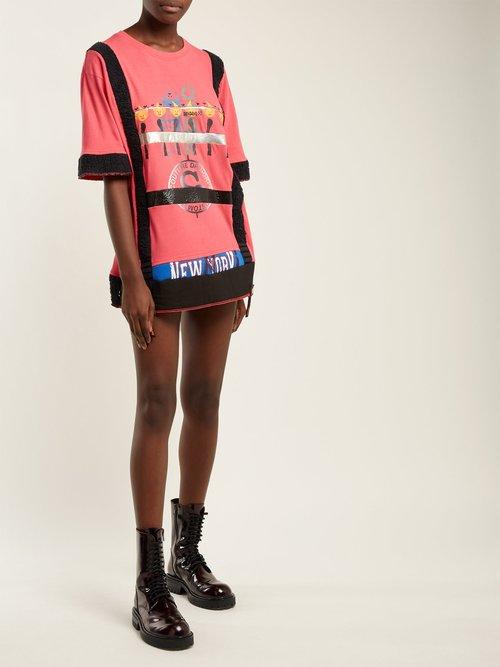Matchstick Print Cotton T Shirt Dress by Noki