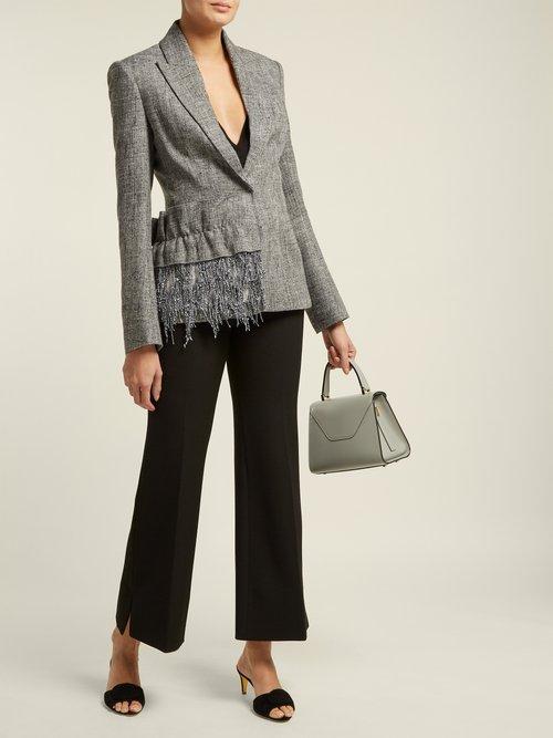 Frill Trim Tweed Blazer by Carl Kapp