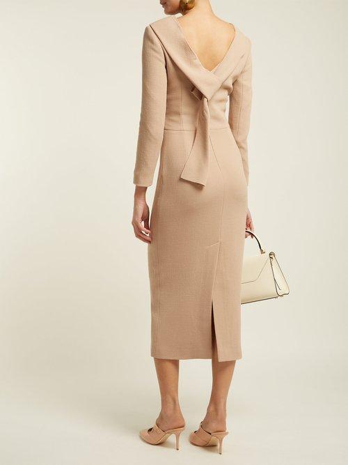 Noah Wool Crepe Dress by Carl Kapp