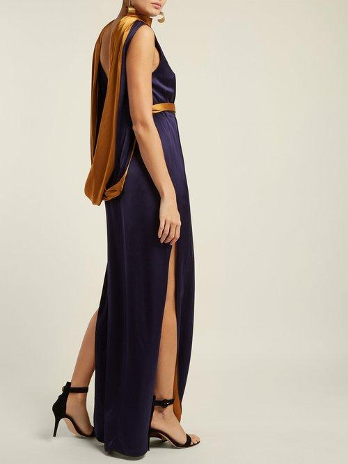 Electra Draped Satin Gown by Carl Kapp