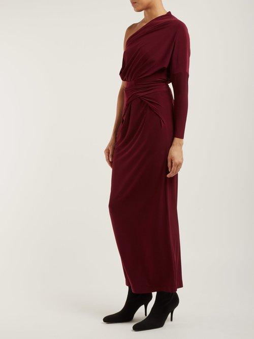 Long Sleeved Tie Waist Dress by Norma Kamali