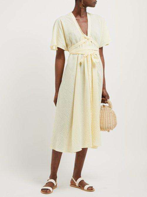 Nautilus Organic Cotton Voile Midi Dress by Loup Charmant
