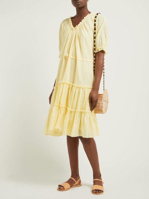 Kassos Tiered Organic Cotton Gauze Dress by Loup Charmant