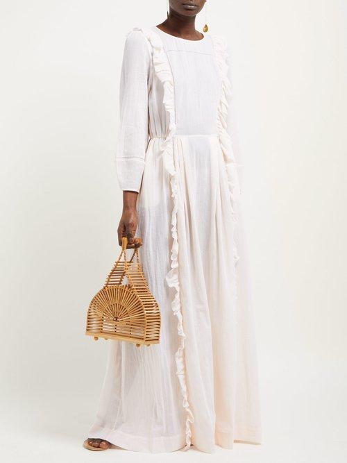Wallice Ruffled Cotton Dress by Loup Charmant