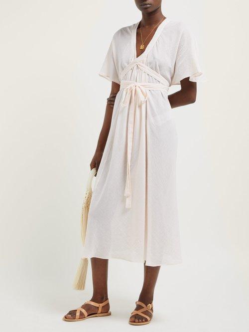 Nautilus Cotton Wrap Dress by Loup Charmant
