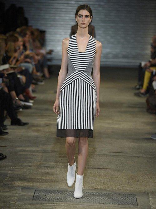 Contoured-striped jacquard dress by Richard Nicoll