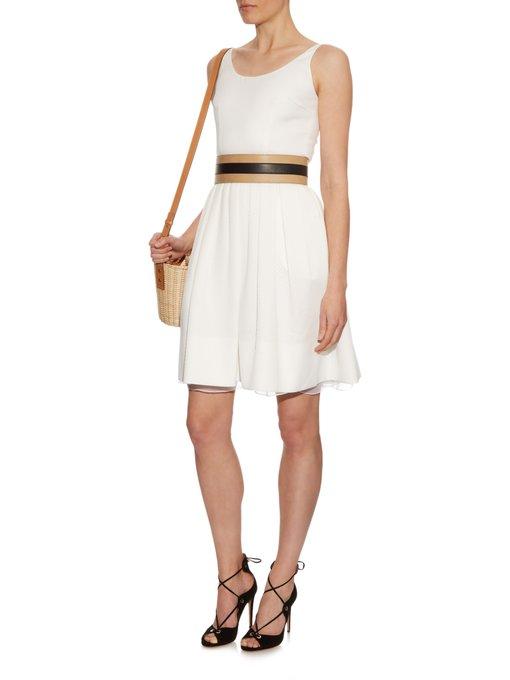 Michelle diamond-jacquard pleated dress Sophie Theallet h7WxtF