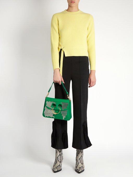 JW ANDERSON Leathers Pierce medium embellished leather shoulder bag