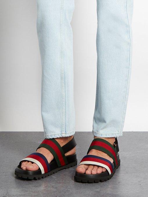 Rimini Striped Sandals Gucci Matchesfashion Fr