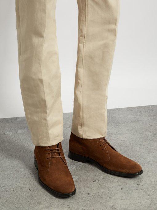 Polacco suede chukka boots   Tod's