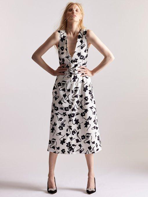 Helen V-neck floral-print crepe-cady midi dress Altuzarra 8lMsbrF