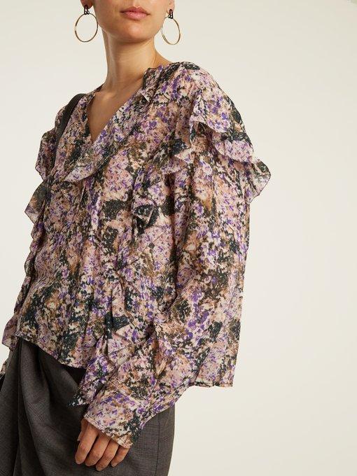 Jelby floral-print chiffon blouse Isabel Marant Sale Low Cost 4kwOc