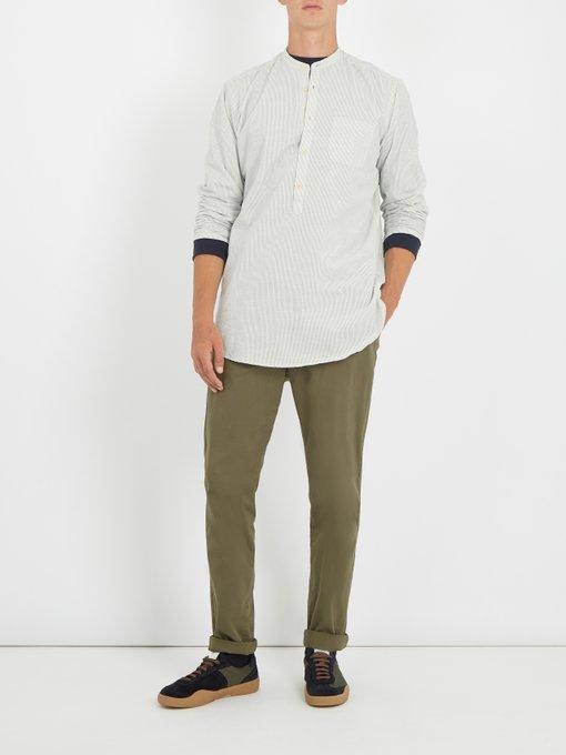 Free Shipping Huge Surprise Quality Free Shipping For Sale Panarea striped cotton shirt Oliver Spencer vbdU2u60jx