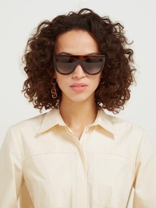 632d93b95fca Celine Eyewear Shadow D-frame acetate sunglasses. outfit 1171024