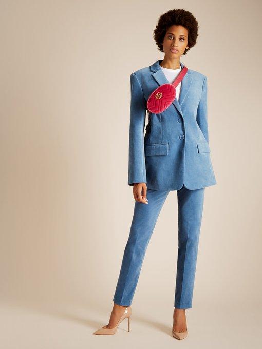 Gg Marmont Quilted Velvet Belt Bag Gucci