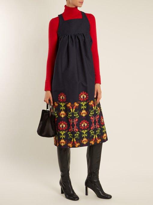 Floral-print stretch-cotton dress Stella Jean KsQ5p