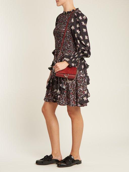 Ruffle-trimmed floral-print hammered-silk dress Rebecca Taylor 0NzIWeJPNz