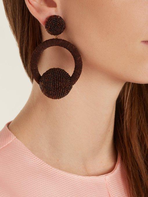 Rebecca de Ravenel Cindy hoop-drop clip-on earrings c9wkj