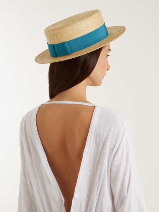 Straw boater hat Prada Discount Fashion Style oTkQh