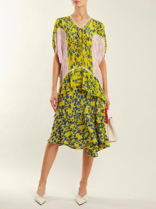 Luna floral-print chiffon wrap skirt Preen NL1lH7eQw