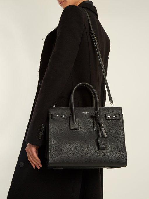 73dfb17e7ba2 Saint Laurent Sac De Jour small grained leather tote. outfit 1186298