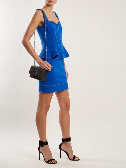 Sweetheart-neck peplum-waist dress Givenchy rp5Ti6lfTY