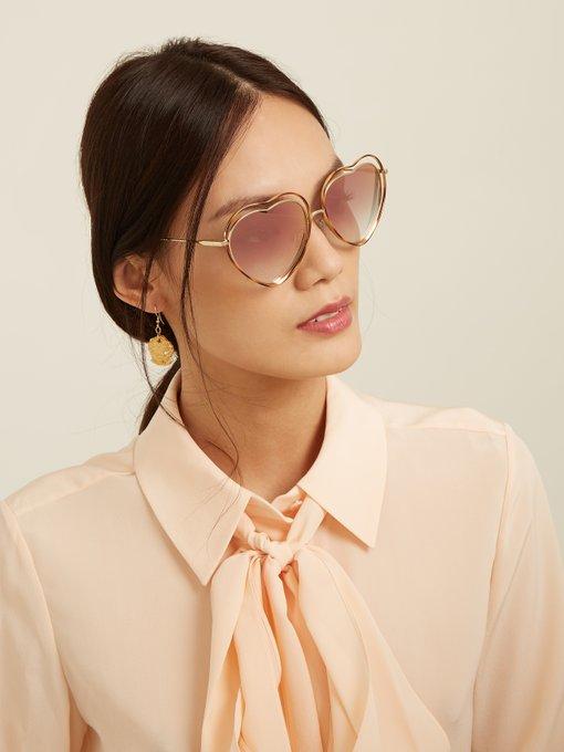 a8212177a2 Poppy heart-shaped frame sunglasses展示图