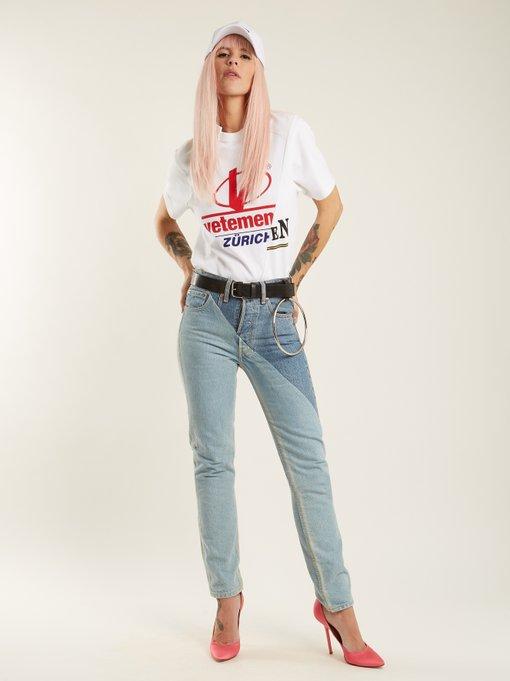 Zurich Reconstructed T Shirt Vetements Matchesfashion Com Us