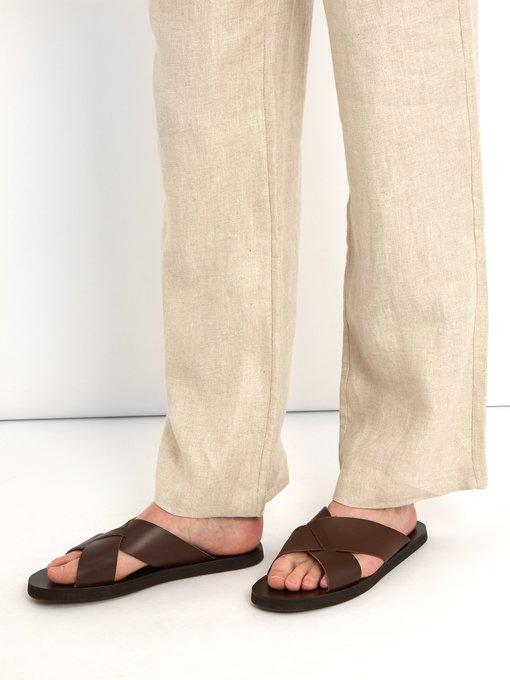 6e378e5b1b8 Ancient Greek Sandals Bios cross-strap leather slides. outfit 1199585